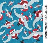 vector background. santa claus. | Shutterstock .eps vector #164608931