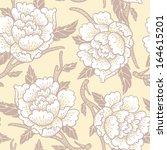 vector floral seamless pattern... | Shutterstock .eps vector #164615201