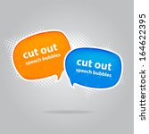 cut out style speech bubbles | Shutterstock .eps vector #164622395