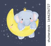 elephant illustration  animal... | Shutterstock .eps vector #1646256727