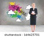 composite image of blonde... | Shutterstock . vector #164625701