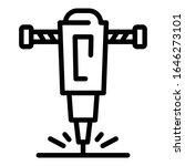 construction drill icon.... | Shutterstock .eps vector #1646273101