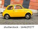 rome   october 20  fiat 500... | Shutterstock . vector #164629277