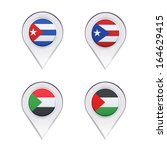 flags inside pointers over... | Shutterstock .eps vector #164629415