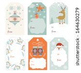 christmas gift tags  | Shutterstock .eps vector #164630279