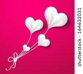 valentine's day heart balloons... | Shutterstock .eps vector #164632031