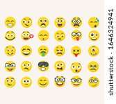 smile icons. isolated vector....   Shutterstock .eps vector #1646324941