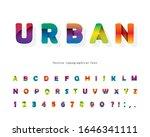 paper cut out 3d alphabet.... | Shutterstock .eps vector #1646341111