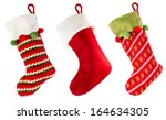 Christmas Stocking Isolated On...