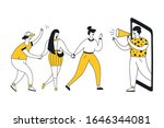 refer a friend loyalty program  ...   Shutterstock .eps vector #1646344081