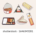 easy foods sold at convenience... | Shutterstock .eps vector #1646345281