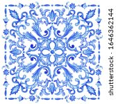 azulejos   portuguese dutch and ... | Shutterstock .eps vector #1646362144
