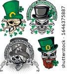 st_patrick with skull  grunge...   Shutterstock .eps vector #1646375887
