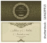 wedding invitation cards... | Shutterstock .eps vector #164639915