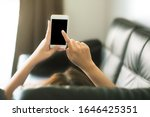 women using blank screen...   Shutterstock . vector #1646425351