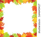 colorful autumn leafs frame ... | Shutterstock .eps vector #164645417