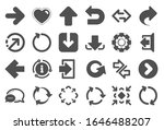 arrows icons. set of download... | Shutterstock . vector #1646488207
