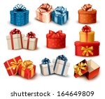 Set Of Colorful Retro Gift...
