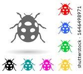 ladybug multi color style icon. ...
