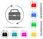briefcase and circular arrows...