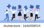 happy businessmen jump with...   Shutterstock .eps vector #1646508514