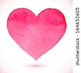 watercolor painted pink vector... | Shutterstock .eps vector #164652605
