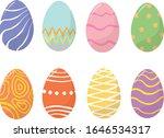 easter eggs icons. vector... | Shutterstock .eps vector #1646534317