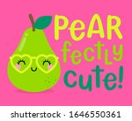 cute pear cartoon with pun... | Shutterstock .eps vector #1646550361