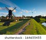 fortified town of bourtange in... | Shutterstock . vector #164655455