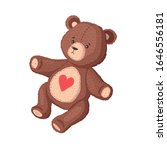 teddy bear. plush vector toy. | Shutterstock .eps vector #1646556181
