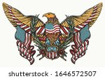 usa eagle and crossed american... | Shutterstock .eps vector #1646572507