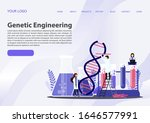 scientists working with dna.... | Shutterstock .eps vector #1646577991
