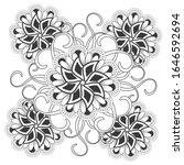 colouring page for adult for... | Shutterstock .eps vector #1646592694
