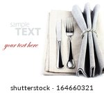 elegant festive table setting... | Shutterstock . vector #164660321