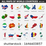 all maps of world countries and ... | Shutterstock .eps vector #1646603857