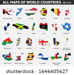 all maps of world countries and ...   Shutterstock .eps vector #1646605627