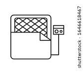 mattress medical icon. simple...