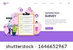 satisfaction survey flat design ...