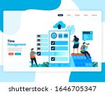 landing page vector of time... | Shutterstock .eps vector #1646705347