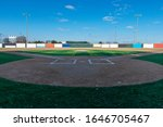 View Of A Baseball Field With...