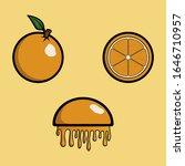 oranges with leaves fresh ripe...   Shutterstock .eps vector #1646710957