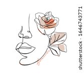 trendy abstract one line woman...   Shutterstock .eps vector #1646743771