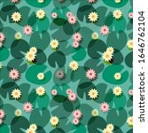 Lily Pads Floral Vector Pattern....