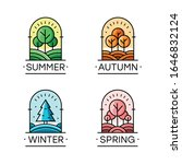 vector set of seasons emblems.... | Shutterstock .eps vector #1646832124