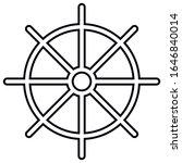 dharmachakra. wheel of dharma   ... | Shutterstock .eps vector #1646840014