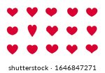 set heart vector icon. hearts... | Shutterstock .eps vector #1646847271