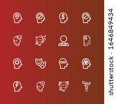 editable 16 depression icons... | Shutterstock .eps vector #1646849434