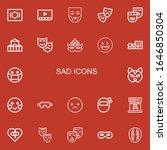 editable 22 sad icons for web...   Shutterstock .eps vector #1646850304