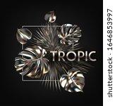 metallic tropical realistic... | Shutterstock .eps vector #1646853997