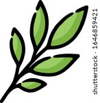 leaves herbs spice hand drawn... | Shutterstock .eps vector #1646859421